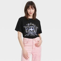 Women's Outkast Short Sleeve Cropped Graphic T-Shirt - Black   Target