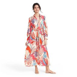 Mixed Floral Long Sleeve Robe Dress - ALEXIS for Target   Target