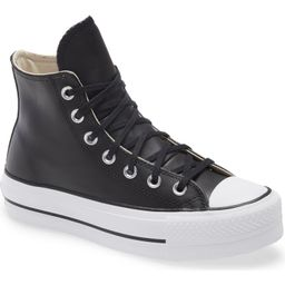 Chuck Taylor® All Star® Leather High Top Platform Sneaker   Nordstrom