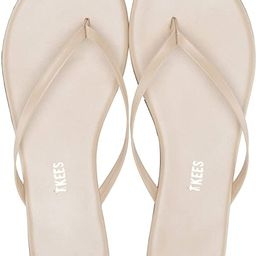 TKEES Women's Foundations Shimmer Leather Thong Sandals Flip Flops | Amazon (US)