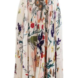 Tropical Floral Print Pleated Midi Skirt | Chicwish