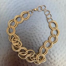 Vintage Gold Chunky Chain Link Necklace   Etsy   Etsy (US)