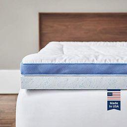 ViscoSoft Pillow Top Latex Mattress Topper King - Made in USA Serene 3 Inch Gel Latex Mattress Pa... | Amazon (US)