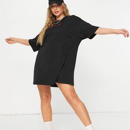 Puma repeat cat logo t-shirt dress in black- exclusive to ASOS | ASOS (Global)