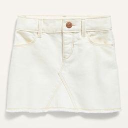 Frayed-Hem Pop-Color Jean Skirt for Toddler Girls | Old Navy (US)
