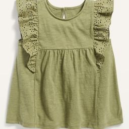 Ruffle-Trim Jersey Top for Toddler Girls | Old Navy (US)
