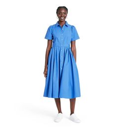 Short Sleeve Shirtdress - ALEXIS for Target Blue S | Target