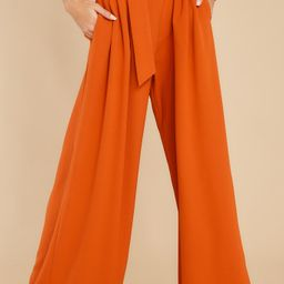 Say Less Burnt Orange Pants | Red Dress