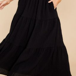 Any Occasion Black Maxi Skirt   Red Dress