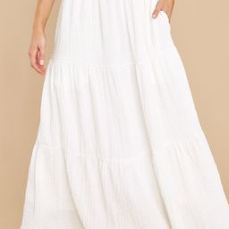Any Occasion White Maxi Skirt | Red Dress