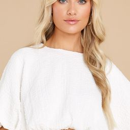 Own The Night White Top | Red Dress