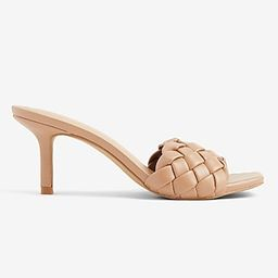 Quilted Slide Heels | Express