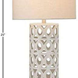 "Amazon Brand – Stone & Beam Ceramic Geometric Cut-Out Table Desk Lamp With LED Light Bulb, 22""H...   Amazon (US)"
