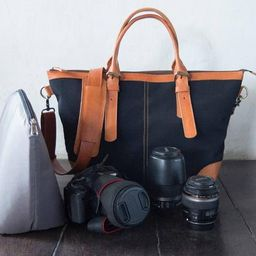 Dslr Camera Bag with Insert Leather camera shoulder bag Tote | Etsy | Etsy (US)