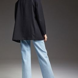 Oversized jacket in woven fabric with notched lapels, button at front, and welt front pockets wit... | H&M (US)