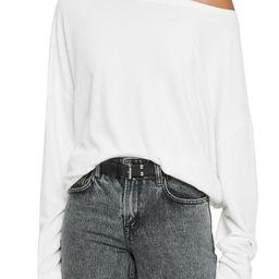 Rita Oversize One-Shoulder Long Sleeve Tee   Nordstrom