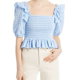 Gingham Square Neck Smocked Top - 100% Exclusive | Bloomingdale's (US)