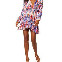 MISA Los Angeles Chiara Blouson-Sleeve Smocked Mini Dress   Neiman Marcus