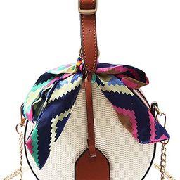 Danse Jupe Women Crochet Fringed Shoulder Bag Cotton Tassel Crossbody Bag Bohemian Beach Bag,Moth... | Amazon (US)