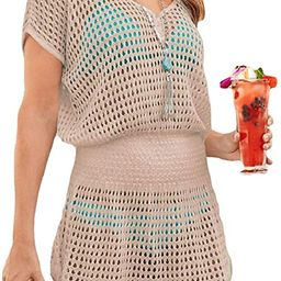 Ailunsnika Bikini Swimwear Cover Up for Women Loose Beach Tunic Dress | Amazon (US)