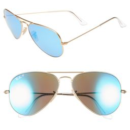 Standard Icons 58mm Mirrored Polarized Aviator Sunglasses | Nordstrom