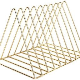 Triangle File Folder Racks and Magazine Holder,10 Lattice Metal Newspaper Holder Magazine File St...   Amazon (US)