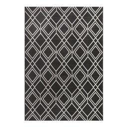 Better Homes & Gardens Grey Diamond Geo Woven Outdoor Rug, 7' x 10' | Walmart (US)