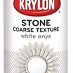 Krylon K18213 Coarse Stone Texture Finish Spray Paint, White Onyx, 12 Ounce | Amazon (US)
