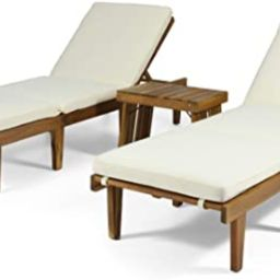 Christopher Knight Home 312742 Carlos Outdoor Acacia Wood 3 Piece Chaise Lounge Set, Teak Finish,...   Amazon (US)