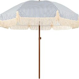 AMMSUN 7ft Patio Umbrella with Fringe Outdoor Tassel Umbrella UPF50+ Wood Color Steel Pole and St...   Amazon (US)