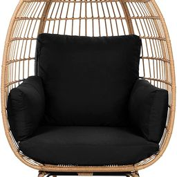 Best Choice Products Wicker Egg Chair, Oversized Indoor Outdoor Lounger for Patio, Backyard, Livi...   Amazon (US)