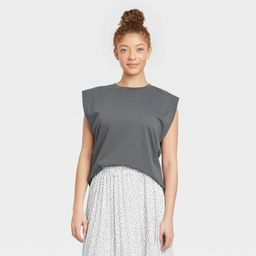 Women's Exaggerated Shoulder Tank Top - A New Day™ | Target