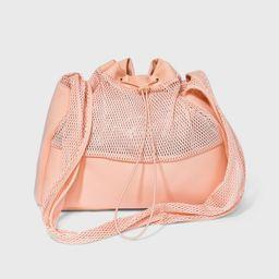 Mesh Sling Elastic Band Shoulder Handbag - Shade & Shore™ Pink   Target