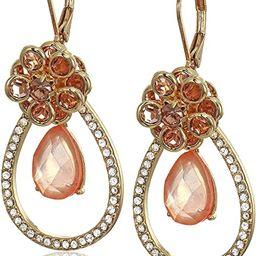 Anne Klein Women's Orbital Gold/Blush Drop Earrings, Pink | Amazon (US)