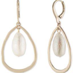Gold-Tone Imitation Pearl Orbital Drop Earrings | Macys (US)