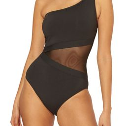 Don't Mesh with Me One-Shoulder One-Piece Swimsuit | Nordstrom