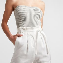 Strapless Ribbed Tube Top Sweater | Express