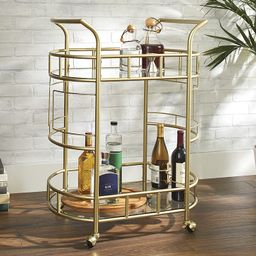Better Homes & Gardens Gold Metal and Glass Fitzgerald Serving Bar Cart   Walmart (US)