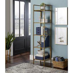Better Homes & Gardens Nola Narrow Bookcase, Gold Finish   Walmart (US)