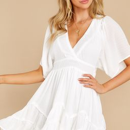 Spring Me Up White Dress   Red Dress