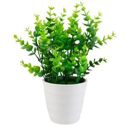 Bangcool Indoor Artificial Potted Plants Plastic Eucalyptus Stems Leaves Plants Small Fake Plants... | Walmart (US)