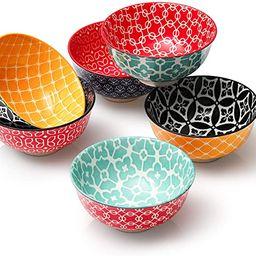 DOWAN Porcelain Small Bowls, 10 Fluid Ounces Vibrant Colors Dessert Bowls, Cute Snack Bowls for I... | Amazon (US)