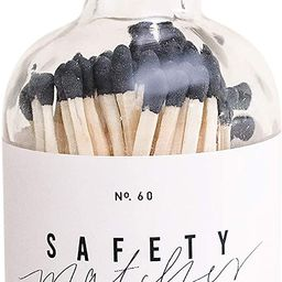 Sweet Water Decor Small Safety Matches in Apothecary Glass Bottle | Chic Rustic Jar of Approx. 60... | Amazon (US)