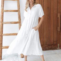 Wabash Dress - White | Petal & Pup (US)
