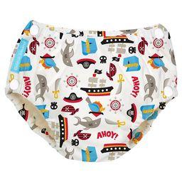 Charlie Banana Reusable Easy Snaps Swim Diaper Black, Pirate (Assorted Sizes)   Target
