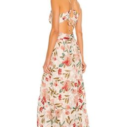 ASTR the Label Frolic Dress in Cream Ruby Floral from Revolve.com   Revolve Clothing (Global)