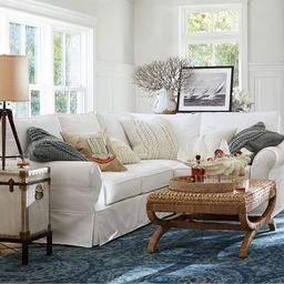 PB Comfort Roll Arm Slipcovered 3-Piece Sectional | Pottery Barn (US)