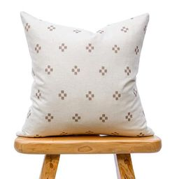 White and tan Dot Hmong Pillow Chiangmai Native Cotton Pillow | Etsy | Etsy (US)