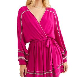 Delilah Embroidered Wrap Mini Dress | Macys (US)