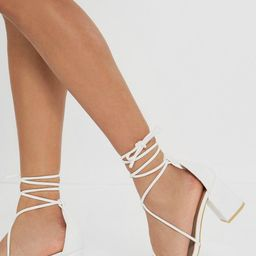 Strappy Lace Up Block Heel Sandals | NastyGal